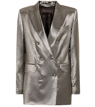 Nadia metallic stretch silk blazer