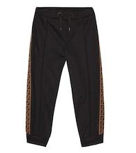 Cotton-blend tech trackpants