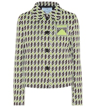 Technical jacquard knitted jacket