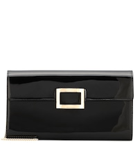 Viv' Envelope patent leather clutch