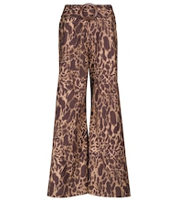 Exclusive to Mytheresa – Claudia leopard-print cotton pants