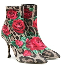 Lori printed ankle boots