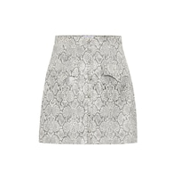 Exclusive to Mytheresa – Erin faux snakeskin skirt
