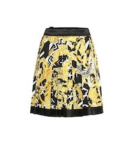 Baroque pleated silk miniskirt