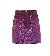 Sharmayne sequinned denim skirt