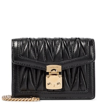 Matelassé leather crossbody bag