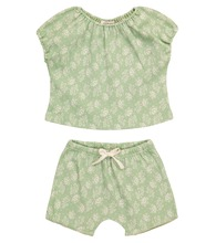 Baby Fugu floral cotton top and shorts set