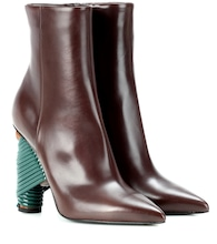 Bistrot leather ankle boots
