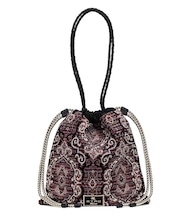Jacquard bucket bag