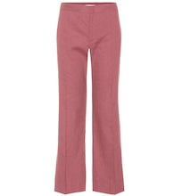 Oxy linen-blend cropped trousers