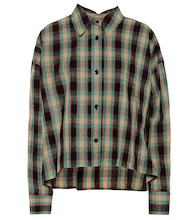 Macao plaid cotton and linen shirt
