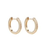 Huggie 14kt gold and diamond earrings