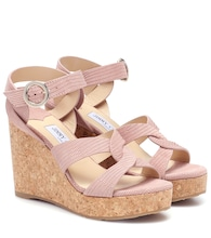 Aleili 100 leather wedge sandals