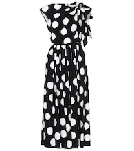 Polka-dot stretch-cotton dress