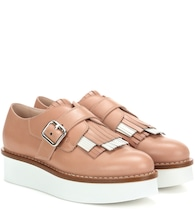 Leather platform Oxford shoes