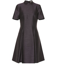 Wool and silk fil-à-fil dress