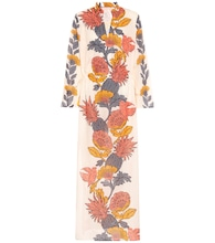 Floral cotton kaftan