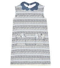Cotton-blend bouclé dress