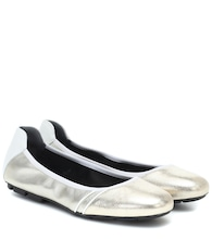 H511 leather ballet flats