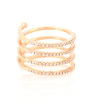 Vertigo 18kt rose gold ring with white diamonds