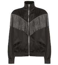 Fringed bomber jacket