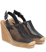 Dakori leather wedge espadrilles