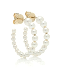 Marco 14kt gold and pearl hoop earrings