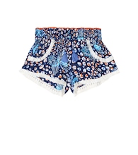 Lulu printed georgette shorts