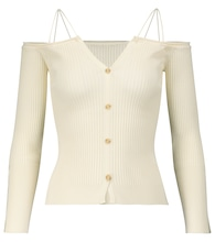 Le Cardigan Tordu off-shoulder cardigan