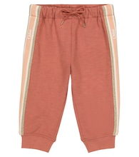 Baby cotton-trimmed trackpants