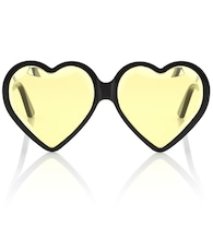 Heart-frame acetate sunglasses