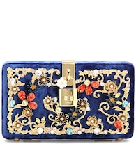 Dolce Box embellished velvet box clutch