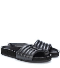 Hellea leather slides