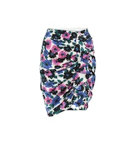 Ravello floral stretch-silk skirt