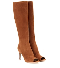 mytheresa.com exclusive open-toe suede boots