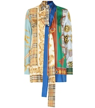 Archive Scarf printed silk shirt