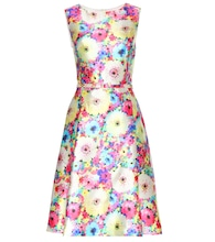 Printed silk and cotton-blend dress