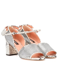 Sequin embellished leather sandals