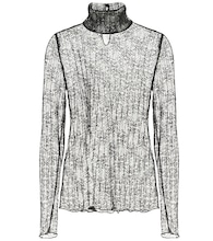Hali point d'esprit turtleneck top