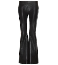 Luisa flared leather trousers
