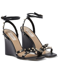 Valentino Garavani Rockstud leather wedge sandals