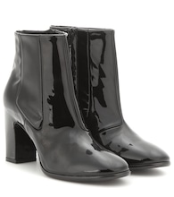 Bottines en cuir verni