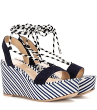 Antibes Mid suede wedge sandals