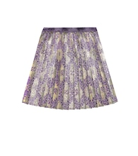 Pleated brocade skirt