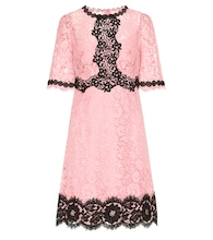 Lace cotton-blend dress