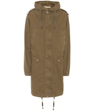 Cotton and linen military parka