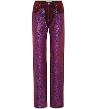 Tisi high-waisted sequinned jeans
