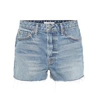 Cindy high-rise denim shorts