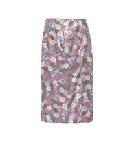 Tahira sequined floral skirt