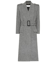 Wool-herringbone coat